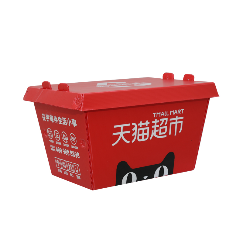 Corrugated plastic express delivery boxes containers custom size color design for packaging or logistic