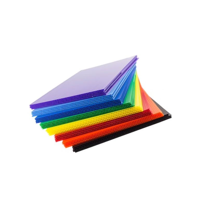 Polypropylene PP corrugated plastic profile sheets corflute coroplast board twin wall plastic sheets poly flute core