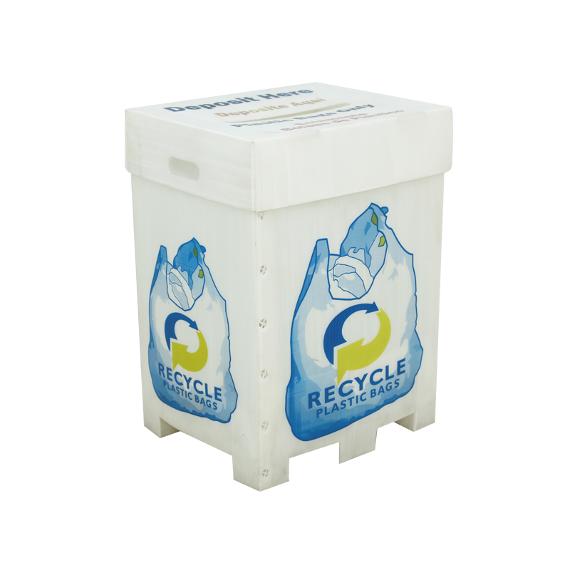Corrugated plastic bins custom recyclers in required size color printing with or without lid