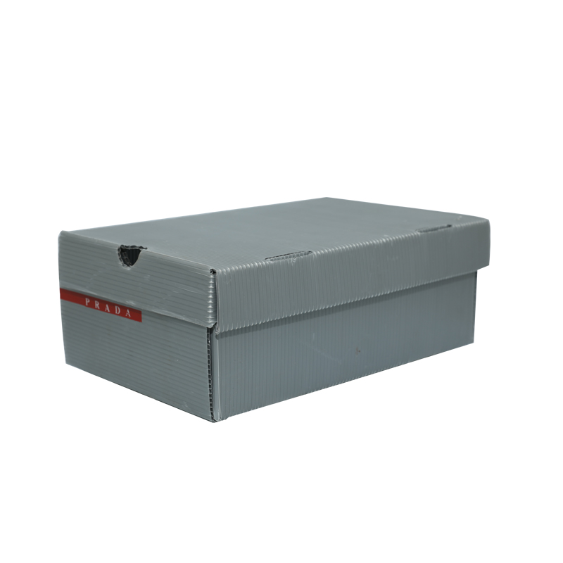 Corrugated plastic shoe boxes containers custom size color design for packaging or circulation